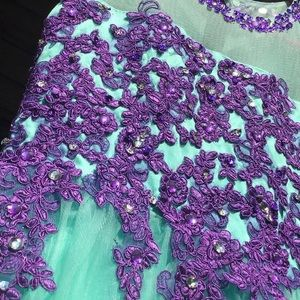 Dresses & Skirts - Purple and Green Mesh Ball Gown